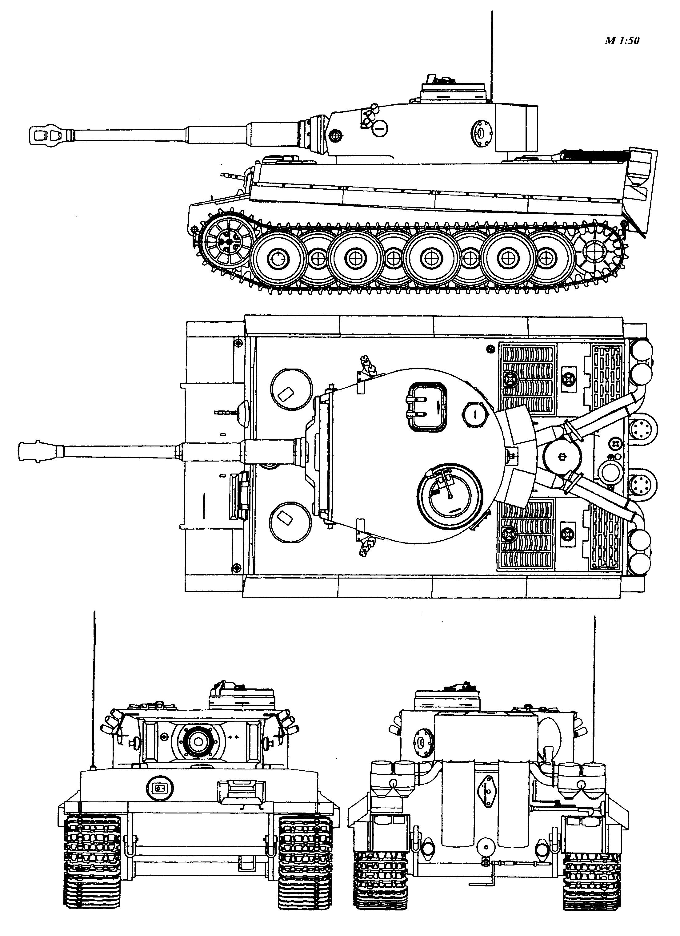 Tiger I Blueprint