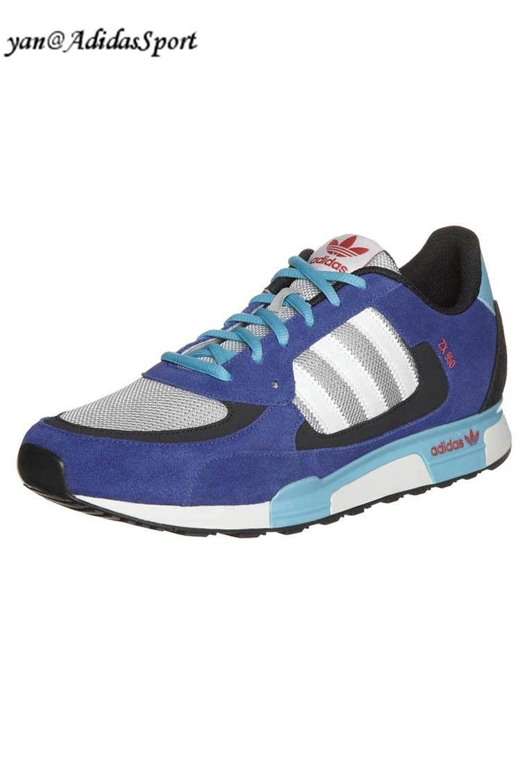 d4d87ee6081 Precio Baratas Hombres Adidas Originals ZX 850 Zapatillas Azul Negro Gris  claro Turquesa Blanco Madrid Tiendas Online
