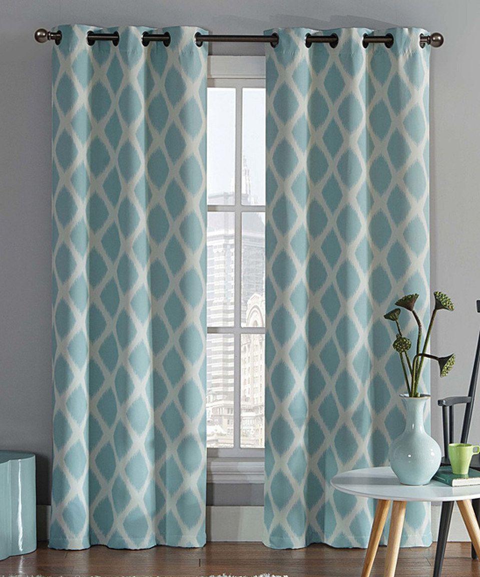 Love this Aqua Tribeca Blackout Curtain Panel - Set of Two by ... for Aqua Curtains Living Room  lp0lpmzq
