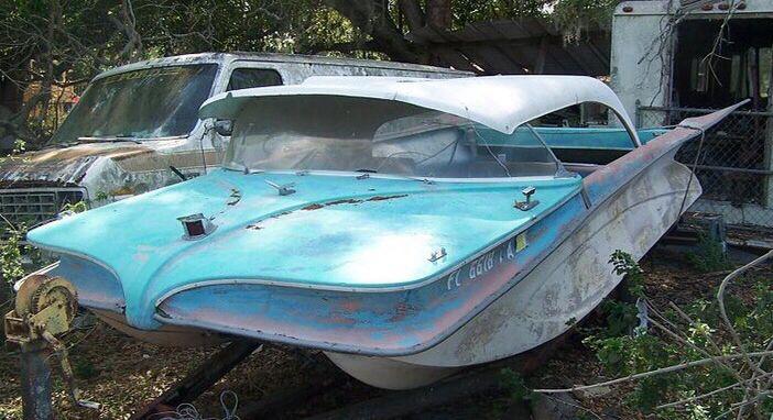 Vintage Fiberglass Boat 113