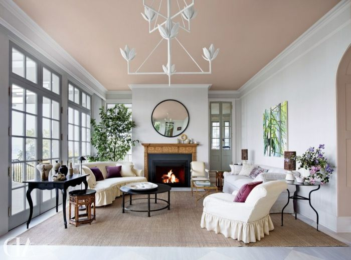 1001 ideas de salones modernos decorados en estilo - Fotos salones pintados ...