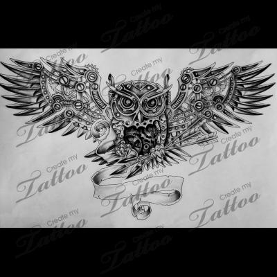 Steampunk Mechanical Owl Revised Owl 98754 Createmytattoo Com Ideias De Tatuagens Tatuagem Tatoo