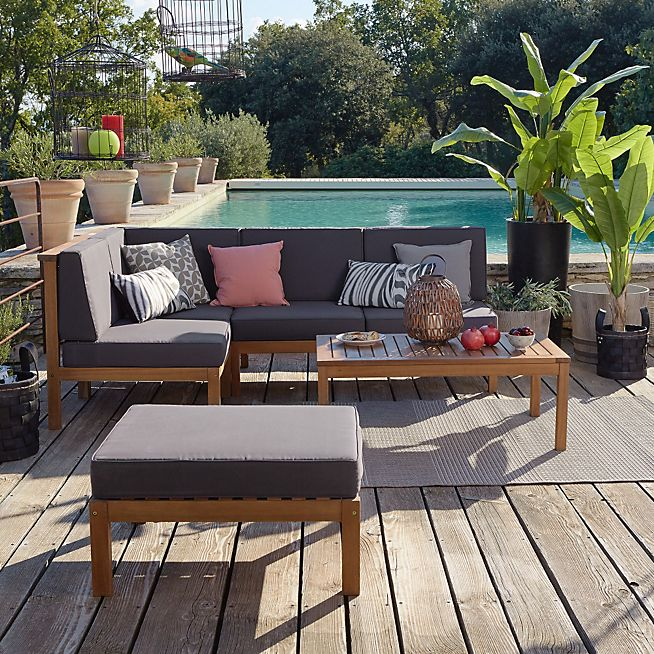 Cocoon Garden Salon de jardin en acacia 5 éléments   Jardin ...