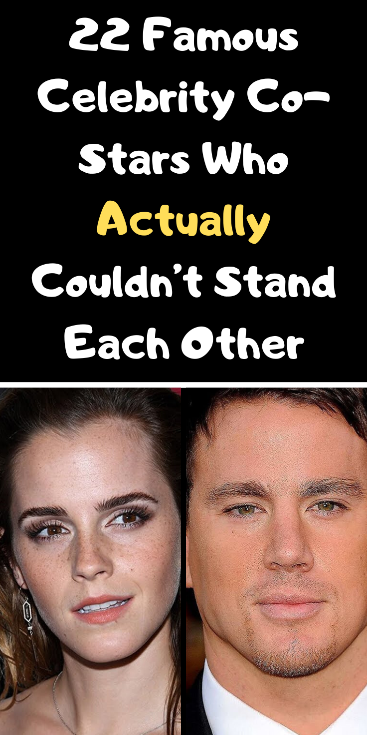 22 Famous Celebrity Co Stars Who Actually Couldn T Stand Each Other Famous Celebrities Celebrities Funny Pictures For Kids