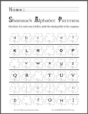 image result for printables alphabet pdf aarush pattern worksheet sequencing worksheets. Black Bedroom Furniture Sets. Home Design Ideas