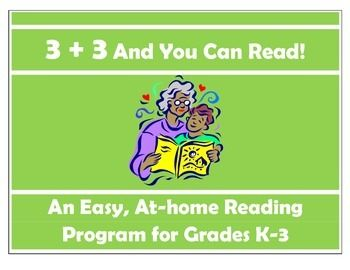 3+3 And You Can Read** An at-home K-3 reading program for parents and educators** Use structure for ANY book--fiction and nonfiction** Great for ensuring child is reading at home in an engaged fashion     with parents.** Good for interventionists, reading specialists, and special educators** Includes 3 types of reading plus 3 activities to do after reading ** Encourages accountability and time on task** Helps parents to use a **simple** way to make reading more meaningful without getting…