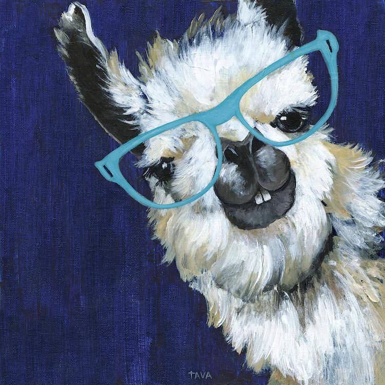 gentleman llama canvas print by tava studios icanvas in on icanvas wall art id=82321