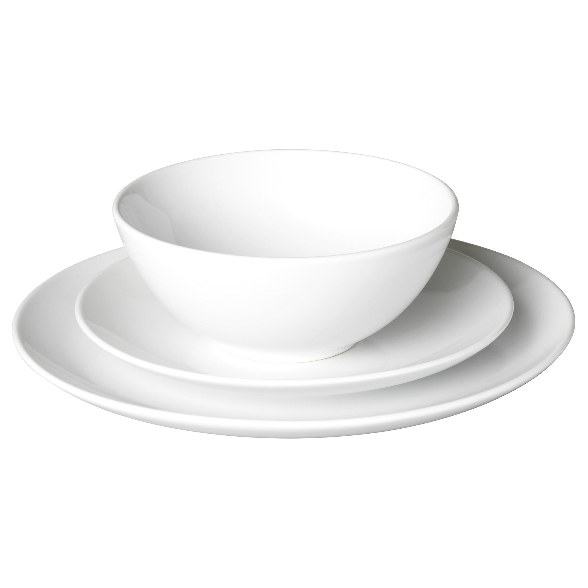 Nice FÄRGRIK 18 Piece Dinnerware Set   White/stoneware   IKEA $19.99 (service For