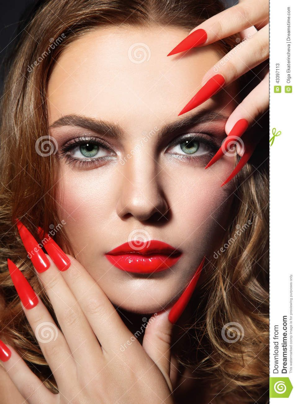 long pointy nails - Google Search   Pointy Fashion Nails   Pinterest ...