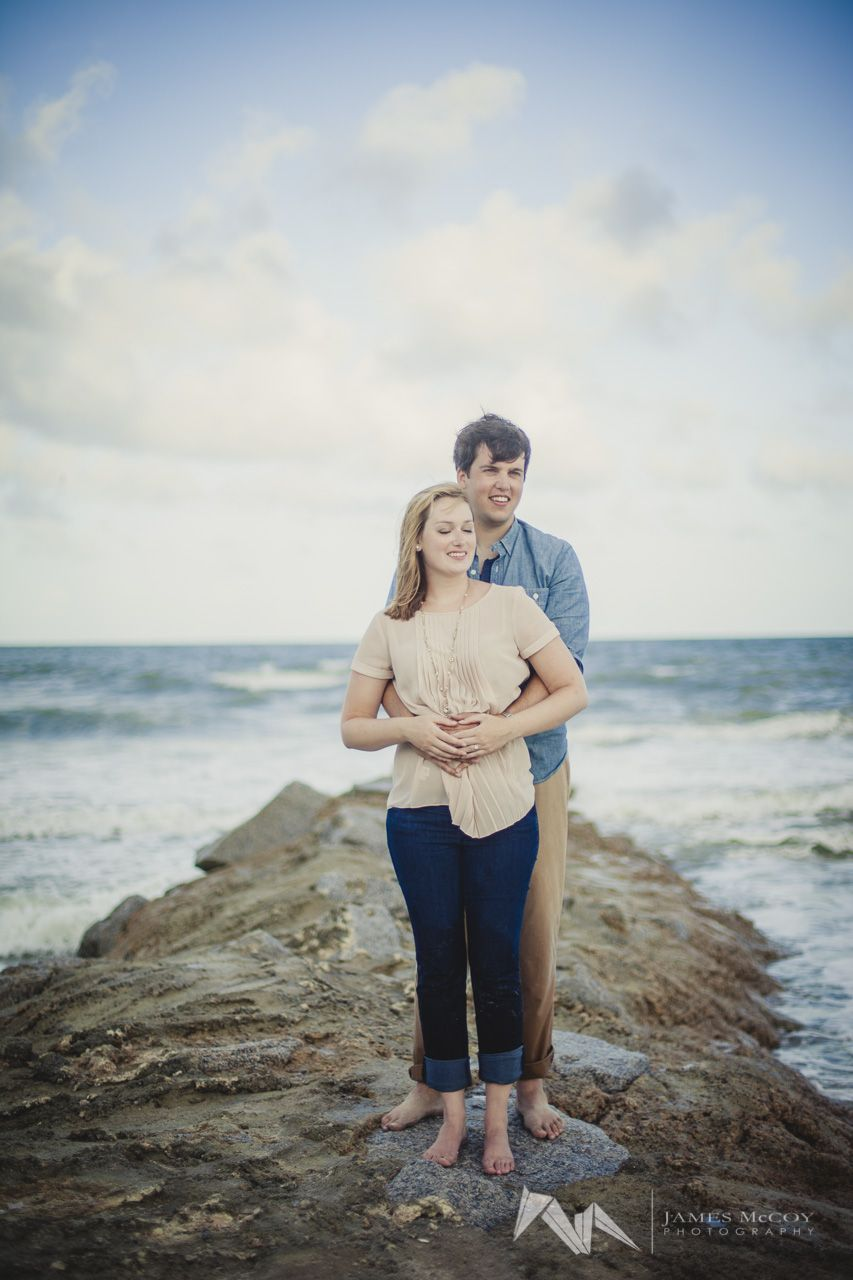 Pawley's Island beach engagement session, simple posing