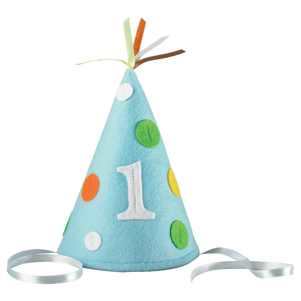 Babys First Birthday Blue Party Hat Infant Boys