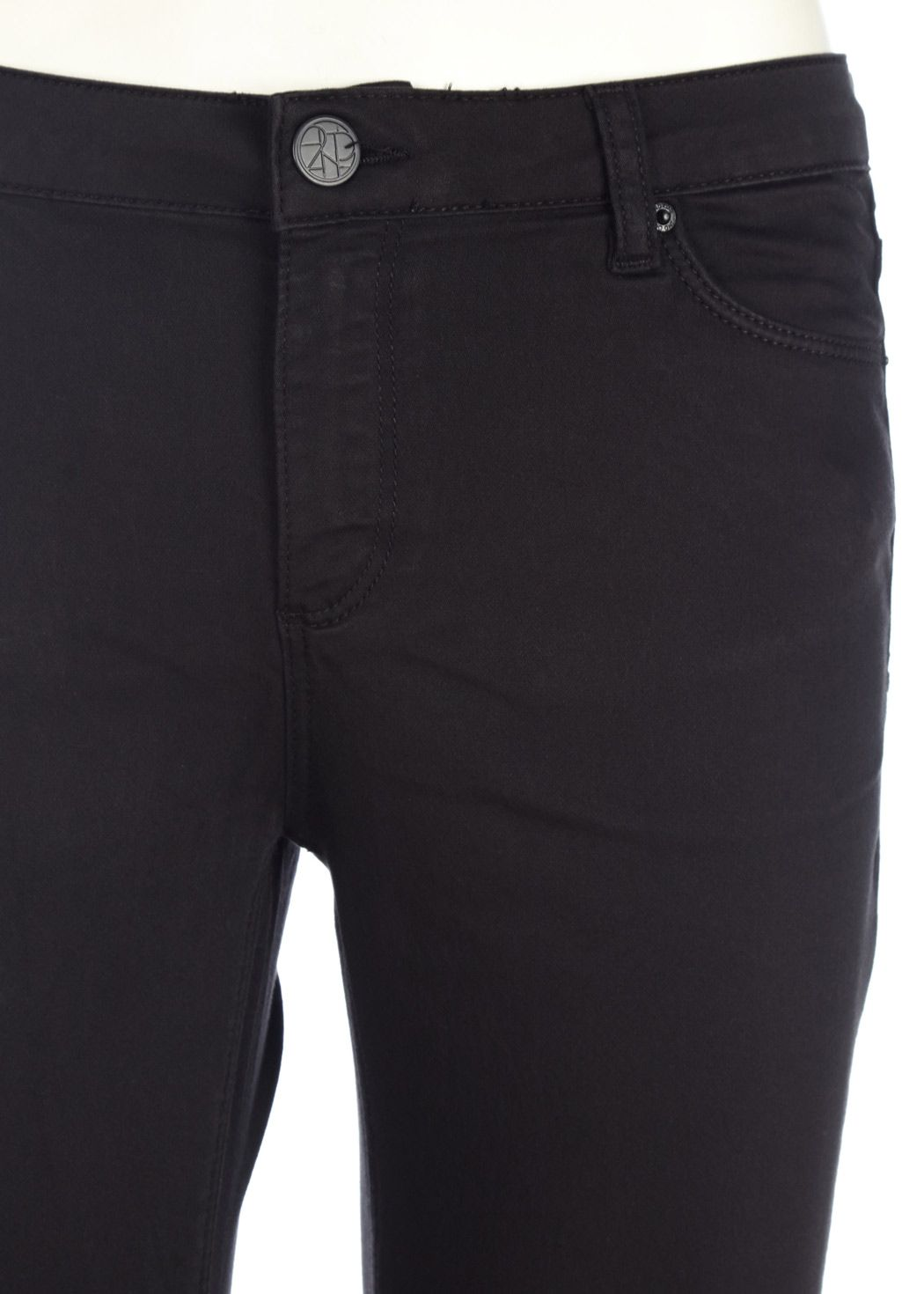 2nd One - Jeans - Nicole Zip - 006 Moon Black Satin