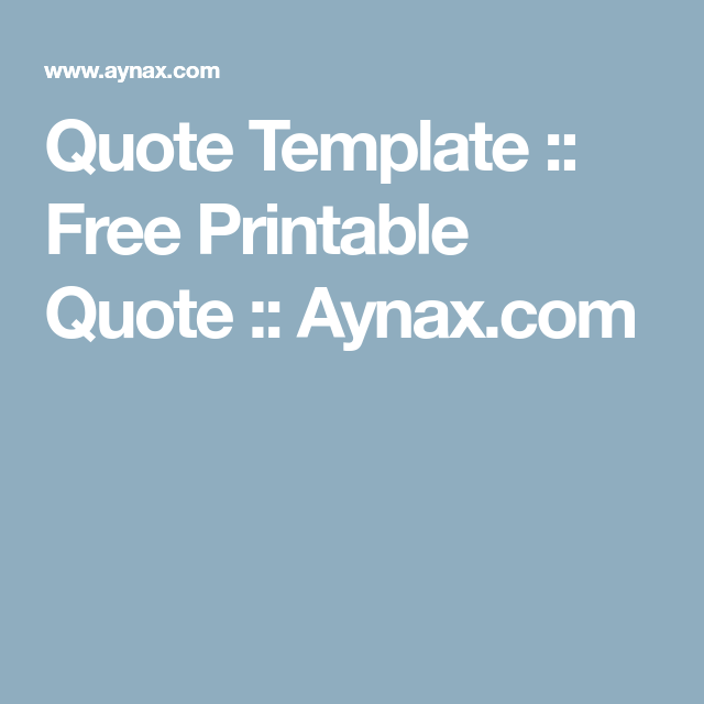 Quote Template Free Printable Quote Aynax Com Free Printable Quotes Quote Template Printable Quotes
