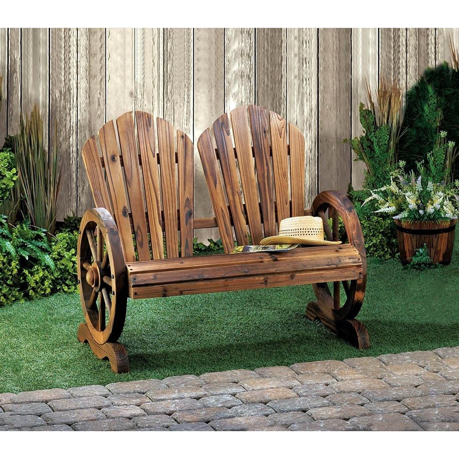 Olmstead Wooden Country-style Wagon Two Seater Brown