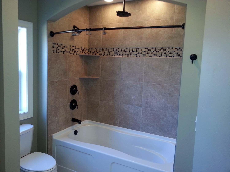 Bathtub Shower Combo Tile | Built In Concrete Storm Shelter