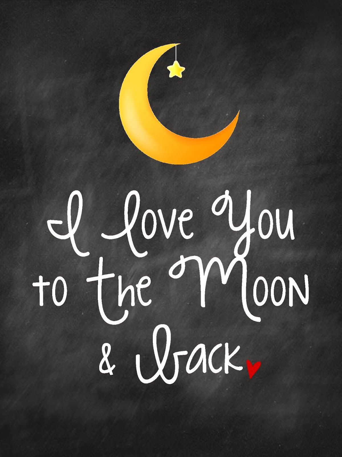 0a83b18525 I love you to the Moon & Back | Kids Art FREE printable nursery wall at |  Sweet Blessings