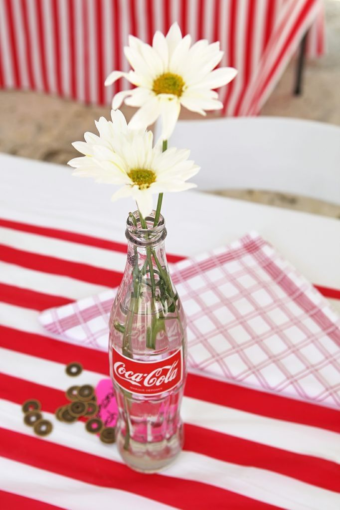 A Simple Centerpiece For Vintage Circus Party