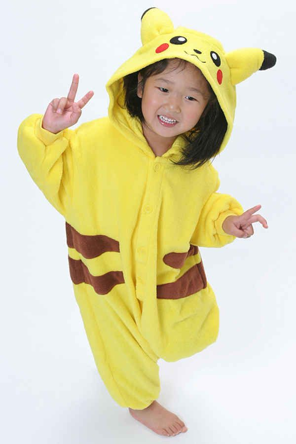 Enfants Kigurumi Pokemon Pikachu Costume de Cosplay enfants ...