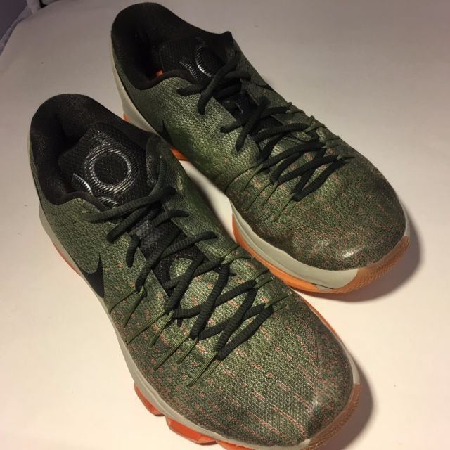 info for b5173 22bbc Nike KD 8 Kevin Durant Basketball Shoes Gray Green Orange 749375-033 Mens  SZ 8.5 | eBay