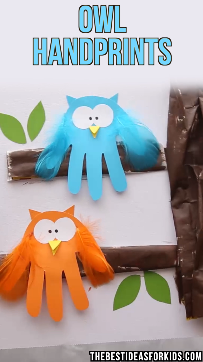 Owl Handprint - The Best Ideas for Kids