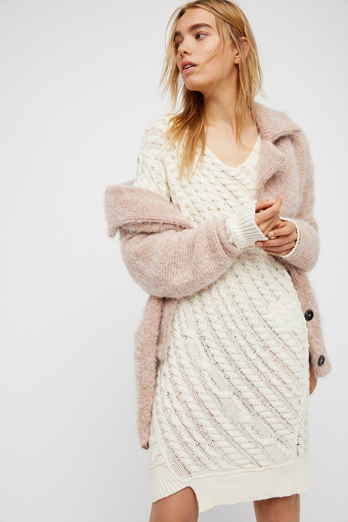 2019 year lifestyle- Sweater Cable dress pictures