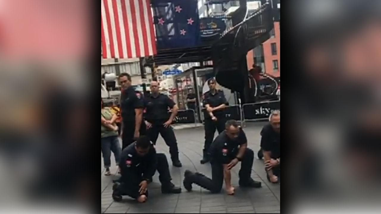 New zealand firefighters perform haka to honor 911