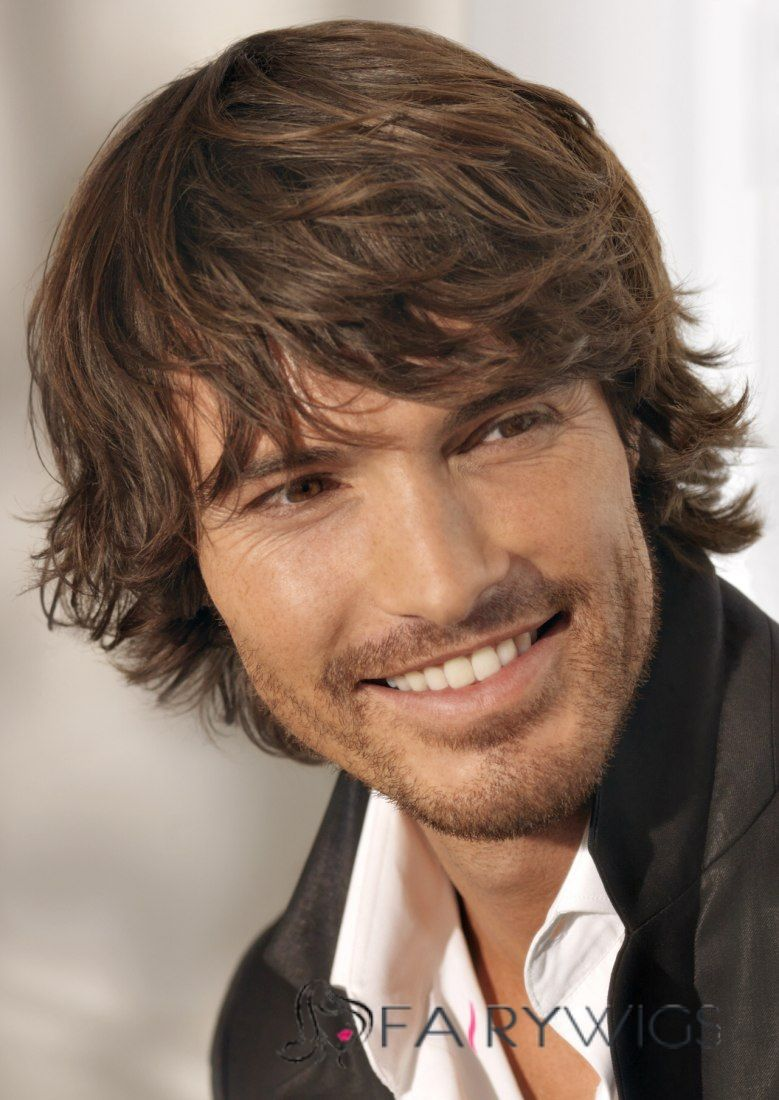 Surfer Hairstyles For Men Super Smooth Short Brown 100 Indian Remy Hair Mens Wigs Mens