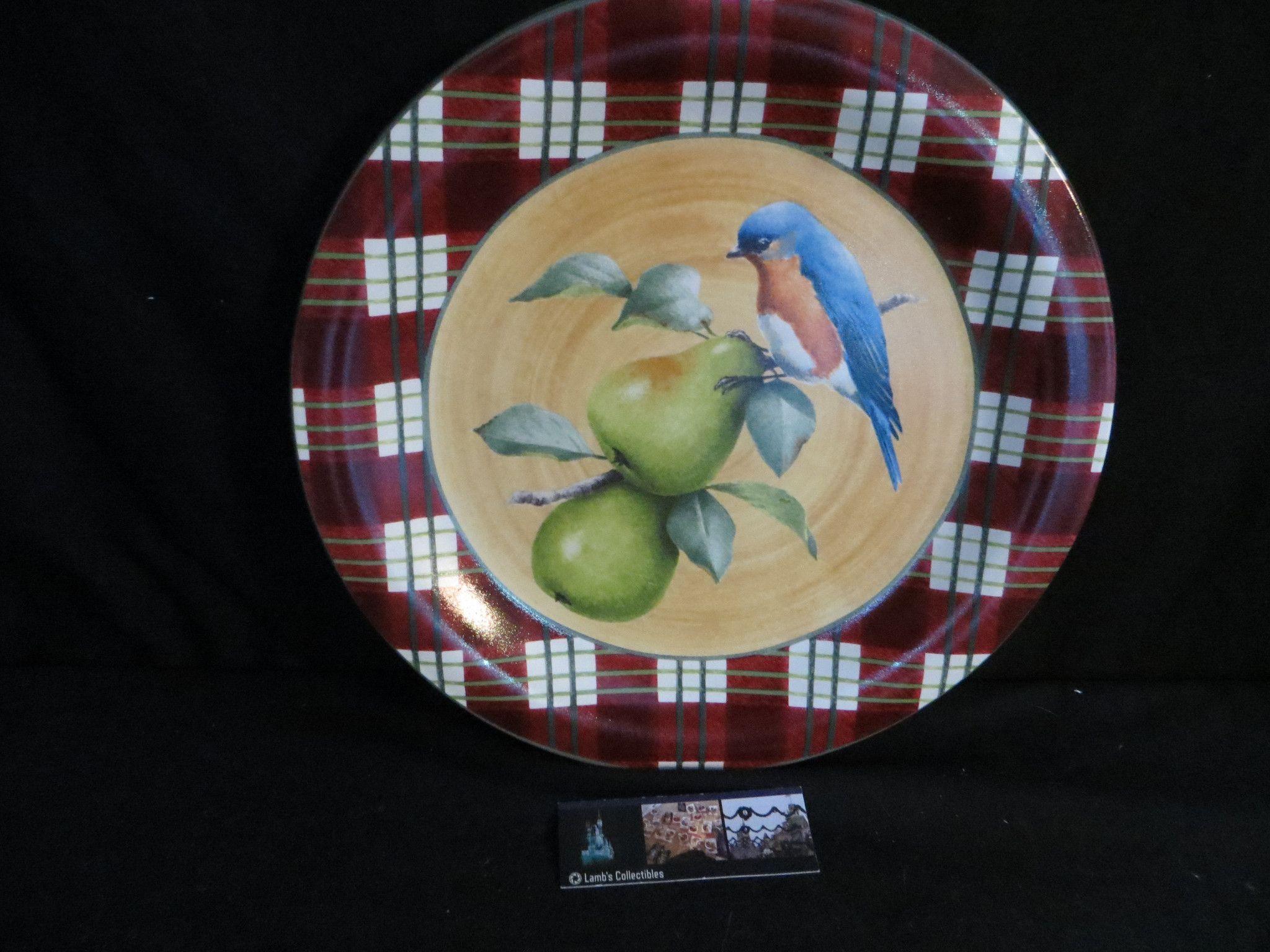 Lenox Winter Greeting Everyday Tartan Eastern Bluebird 10 12 Salad