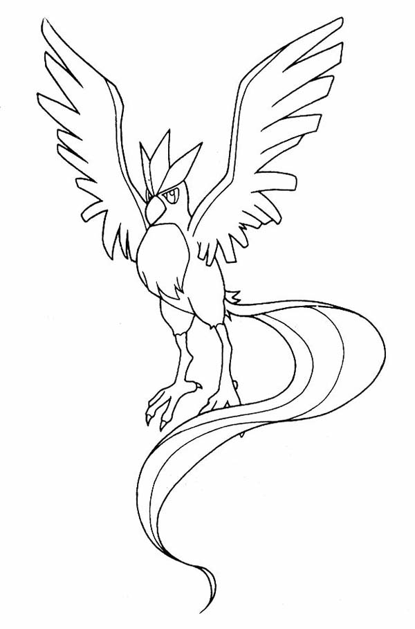 Pin On Articuno Coloring Pages