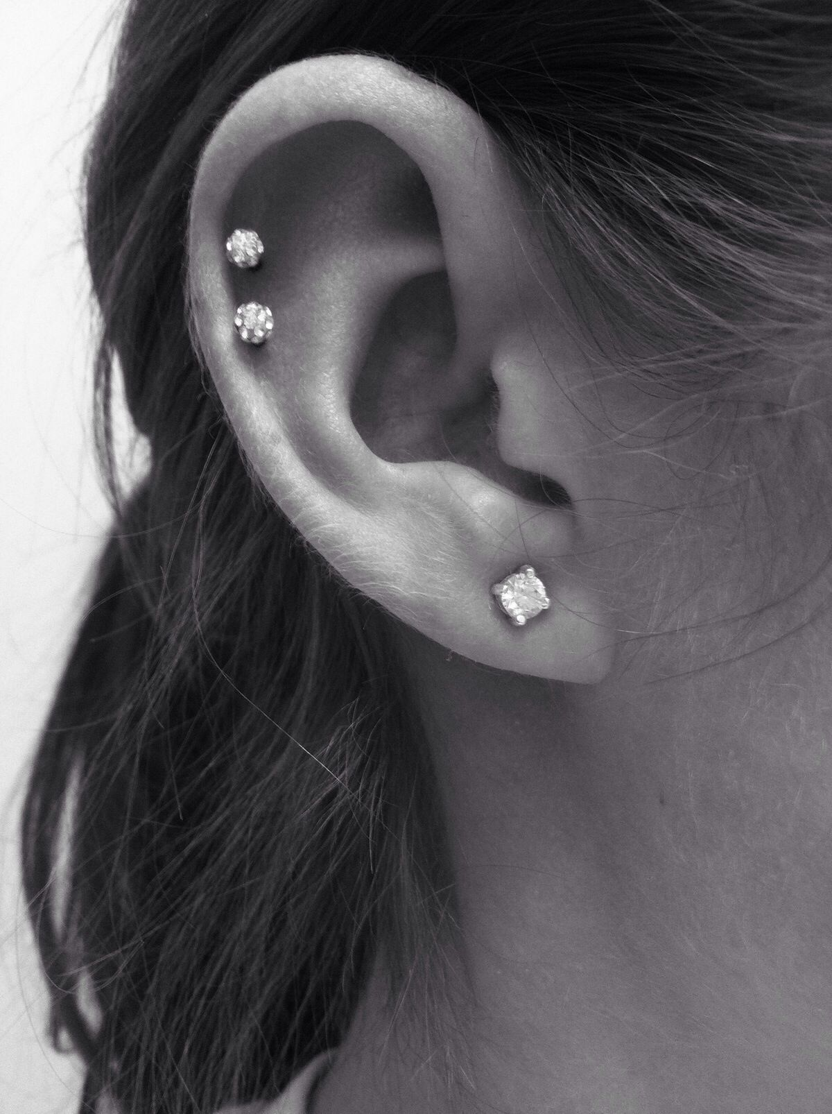 Cute piercing ideas ears  Pin by Rachel L on Beauty  Pinterest  Piercings Rose and Dark