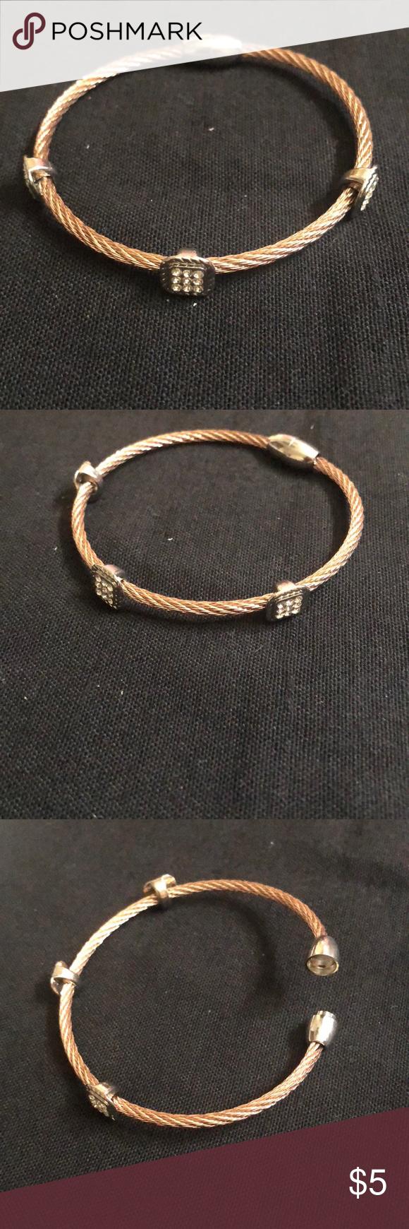 Rose gold rope bracelet in my posh closet pinterest