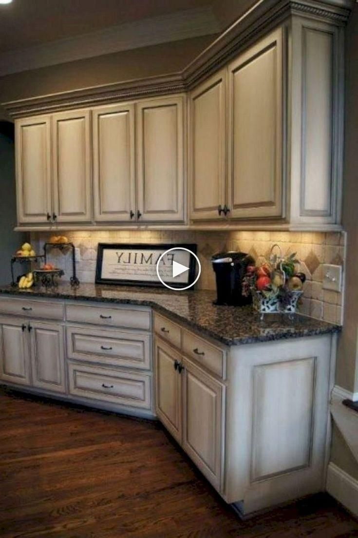 75 Fabulous Farmhouse Kitchen Cabinets Makeover Ideas Antique White Kitchen Cabinets Antique White Kitchen Glazed Kitchen Cabinets