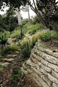 Broken Concrete Walls Google Search Broken Concrete Sloped Garden Landscaping Retaining Walls