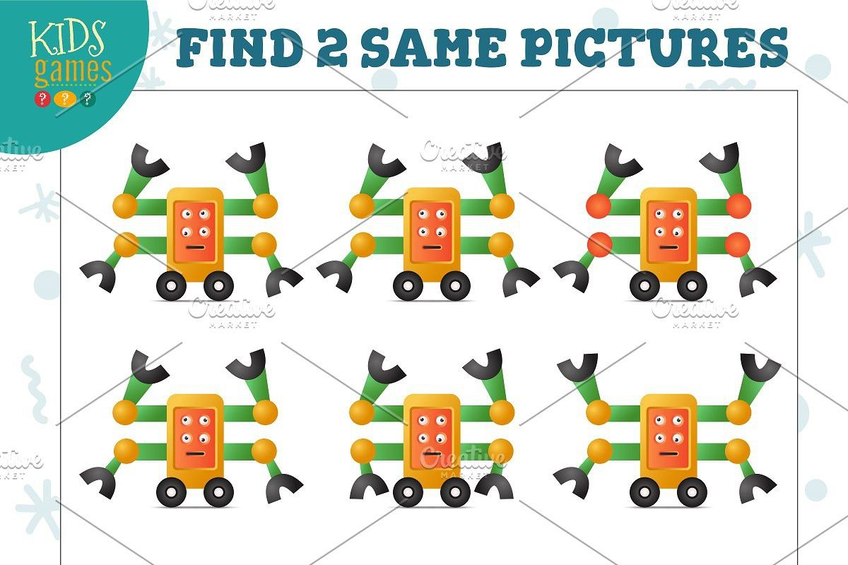 Find two same pictures game vector Pictures, Games for