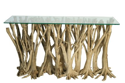 Orange Tree Root Console Table  http://hawleyco.com/living-room/occasional-tables/orange-tree-root-console-table/