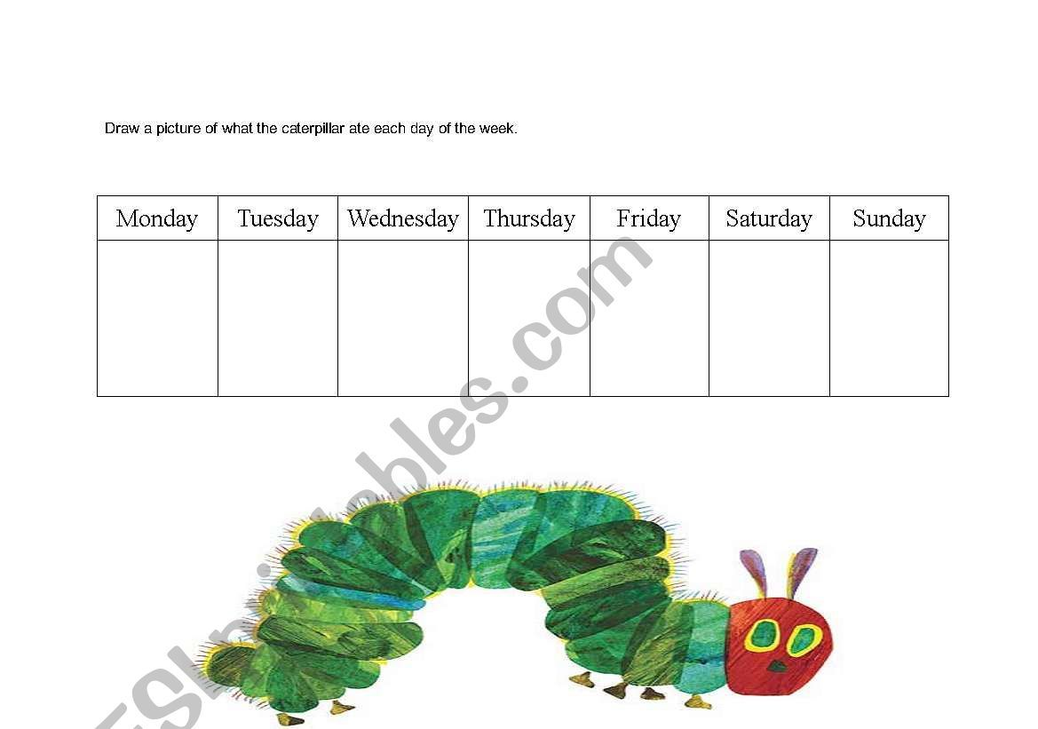 Hungry Caterpillar Sequencing