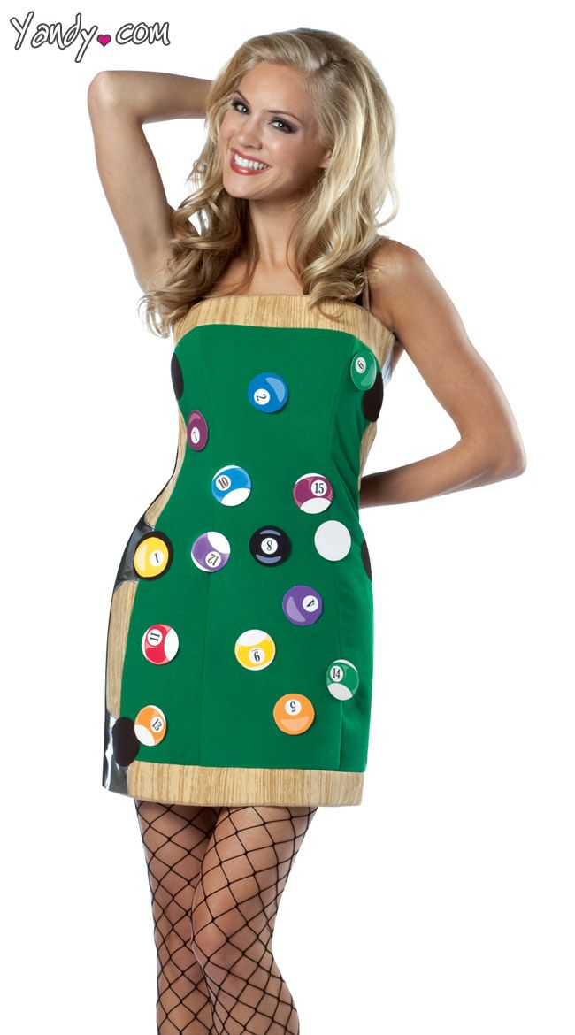 Pool Table Dress Costumes Pinterest Table dressing and Costumes - green dress halloween costume ideas