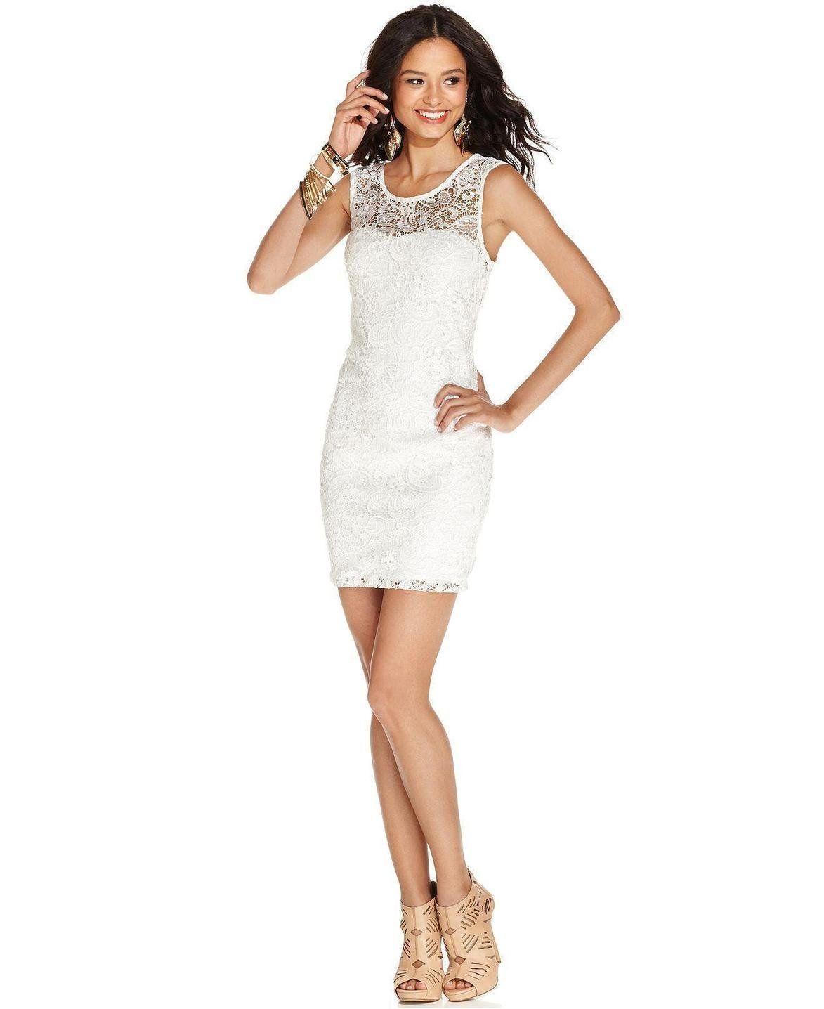 As U Wish Juniors\' Lace Cutout Bodycon Dress http://picvpic.com ...