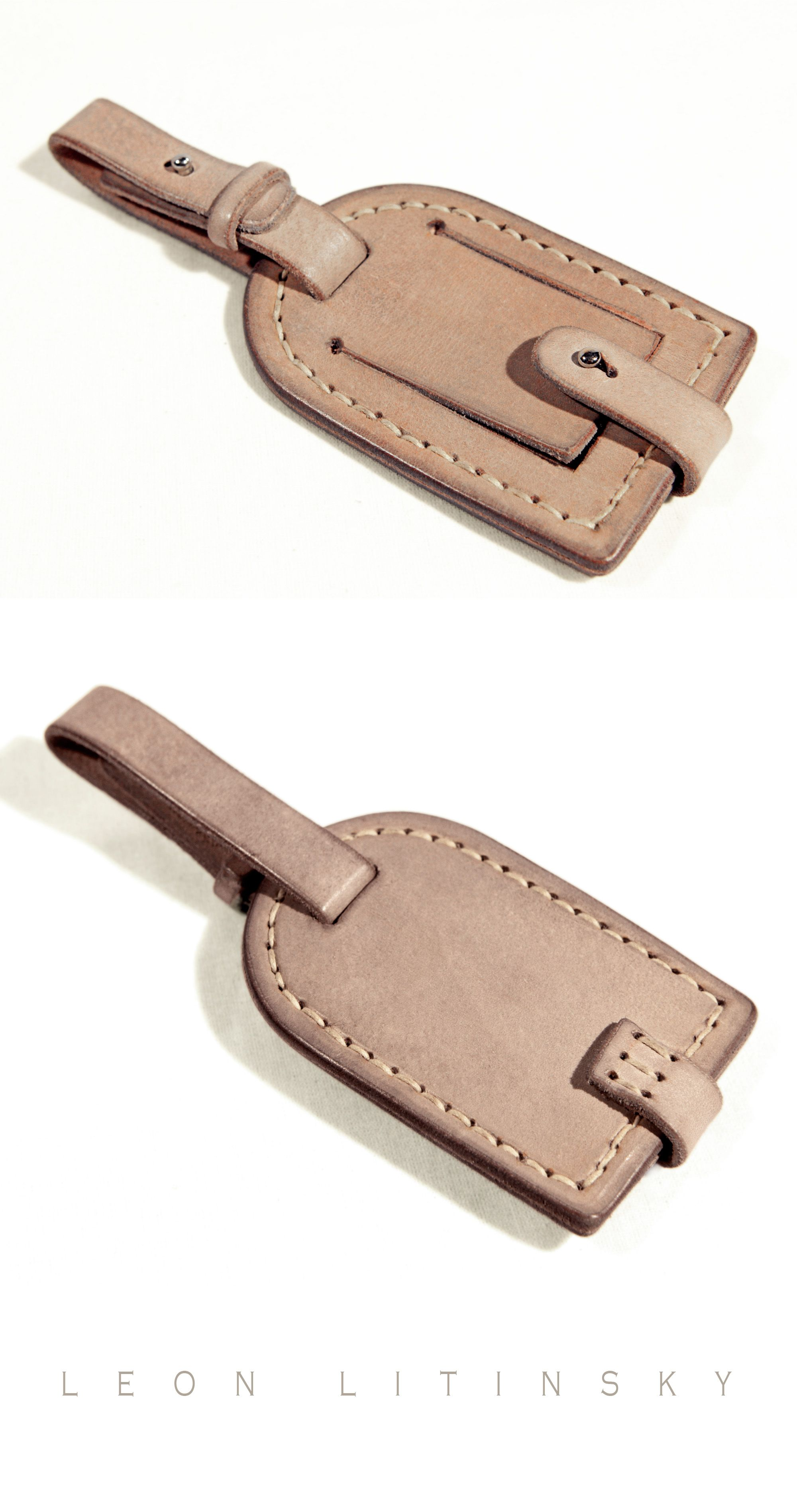 Leather Luggage Tag By Leon Litinsky   leather   Pinterest   Leather ...