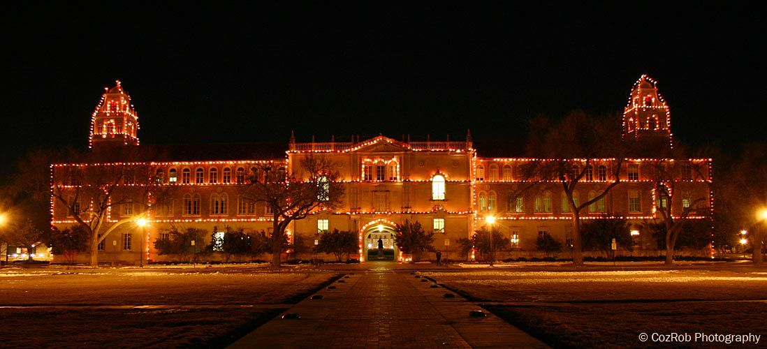 Carol of Lights on the Texas Tech campus One of my