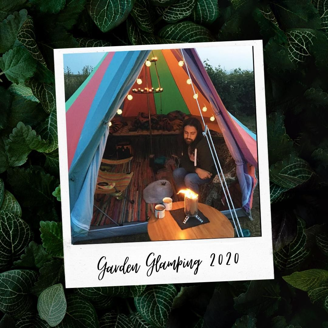 Garden Glamping at it's finest. Featuring the bright & beautiful Rainbow Bell tent @wilder_country  . . . #GardenGlamping #SelfIsolation #BoutiqueCamping #StayCation #StayHome #GreatBritishCampout #StayHome #GlampingNotCamping #HappyCamper #Camping #Glamping #Tent #LuxuryCamping #BellTent #CampOut