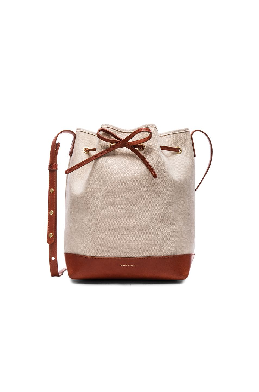 a1a423d0c72 MANSUR GAVRIEL Canvas Bucket Bag. #mansurgavriel #bags #shoulder bags  #leather #canvas #bucket #