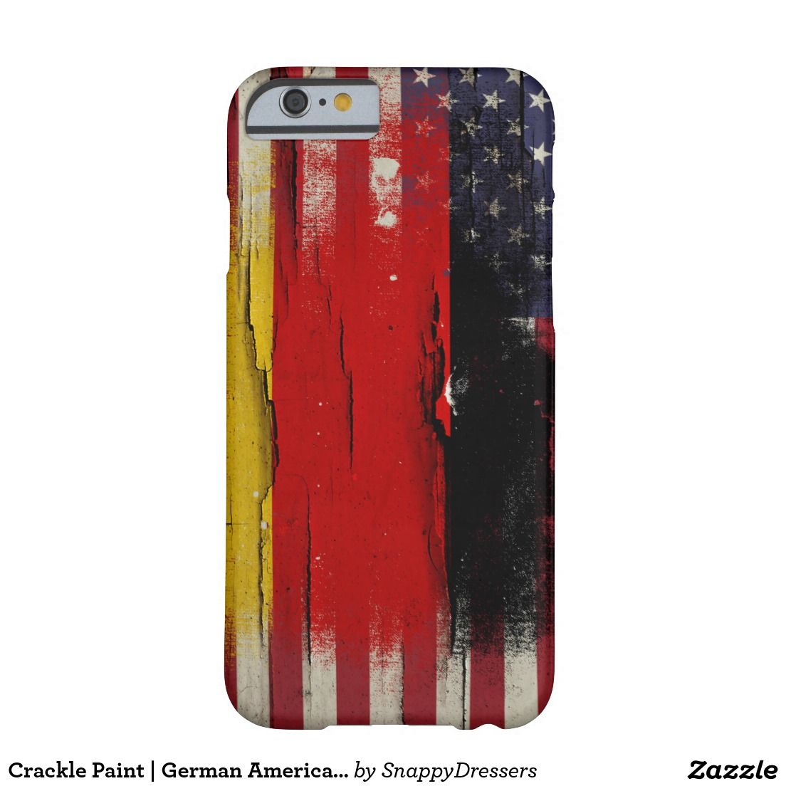 Crackle Paint | German American Flag Barely There iPhone 6 Case