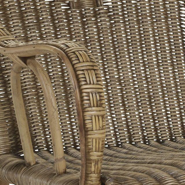 Fauteuils et meubles en moelle de rotin grand père