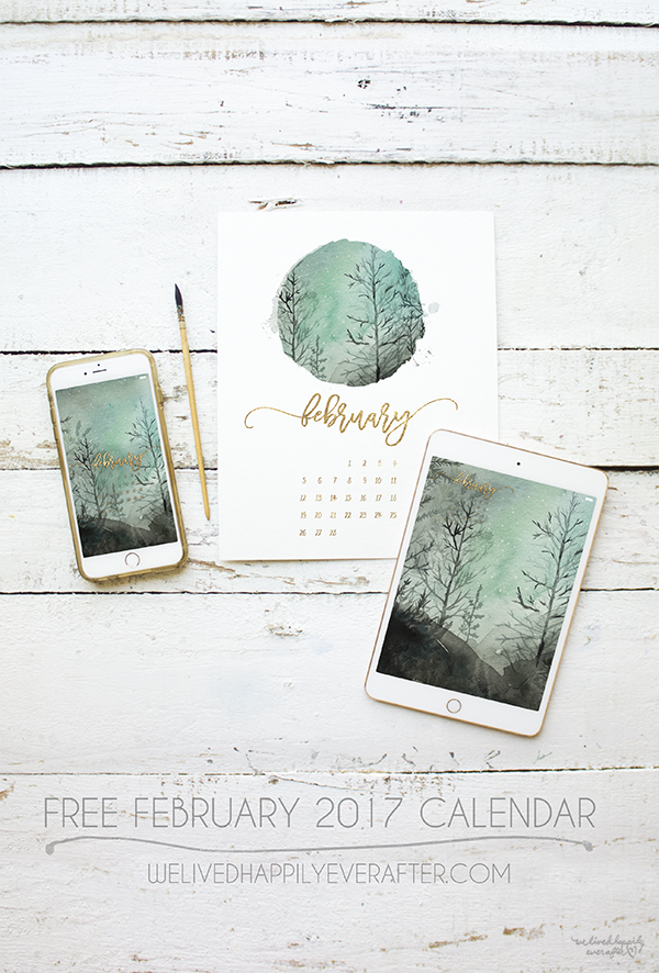 Hi Everyone! I am so excited to share the second installment of 12 Watercolor Calendar Months. I'll be updating this calendar each month - so make sure to bookmark my site so you don't forget! :)    T
