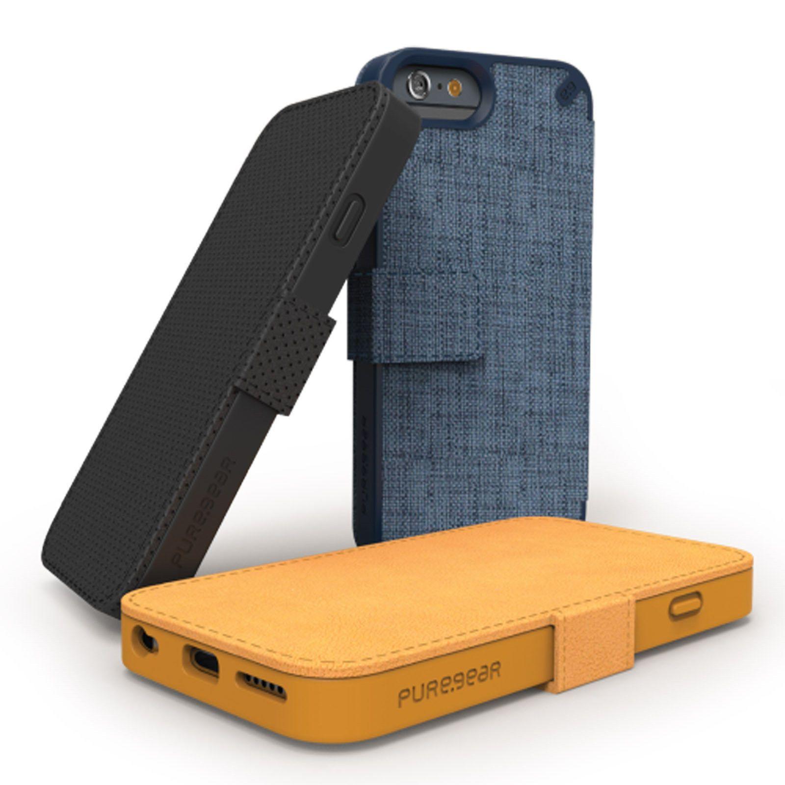 pretty nice 84983 32514 Details about PureGear Express Folio Flip Case for iPhone 6/6S Plus ...