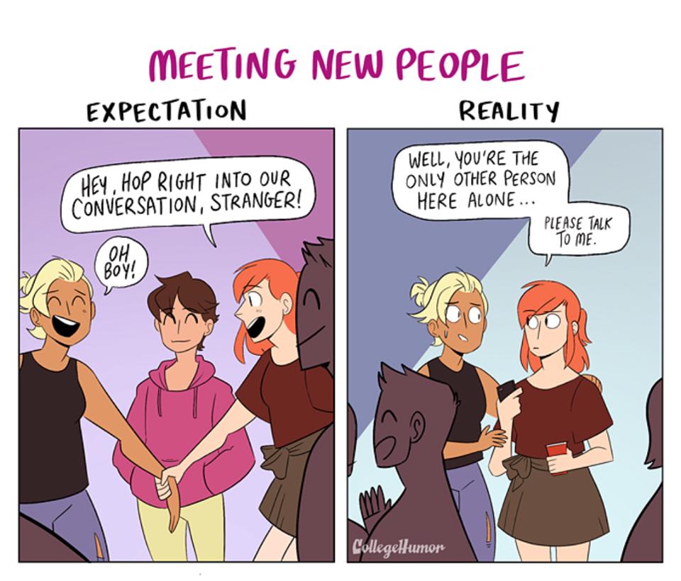 Výsledek obrázku pro comic meeting a stranger