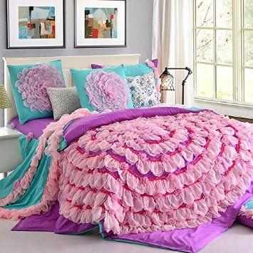Girls Queen Size Bedding Sets Princess Bedding Set Ruffle