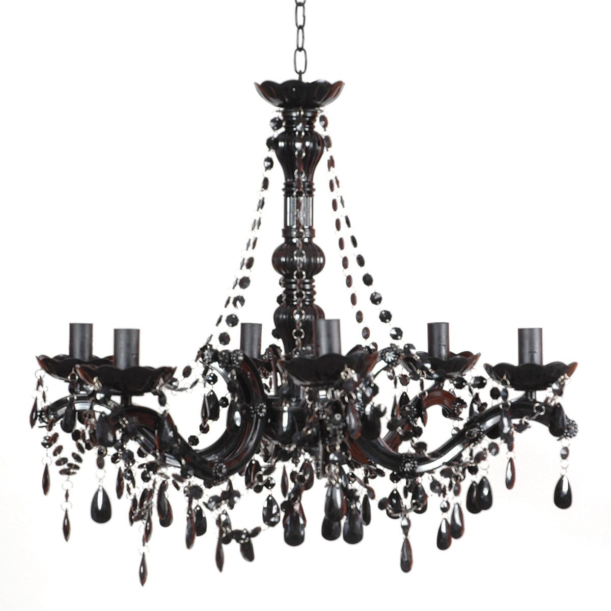 Buttress 06 arm black chandelier by the french bedroom company buttress 06 arm black chandelier by the french bedroom company aloadofball Images