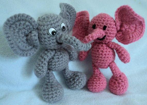 Hjemmelavet Obsessions: Hækl Elephant Gratis Mønster (amigurumi elefant)